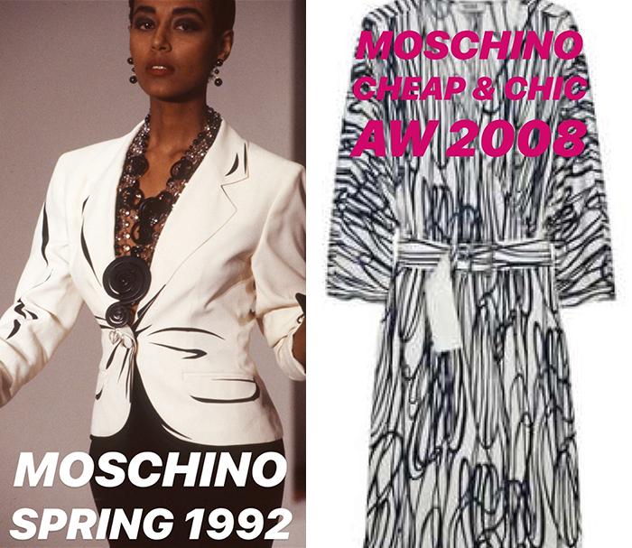 Moschino уверяют, что брали за основу свои собственные предыдущие коллекции.