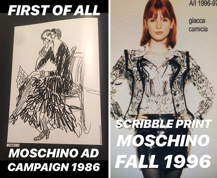 Креативный директор Moschino  отрицает все обвинения.