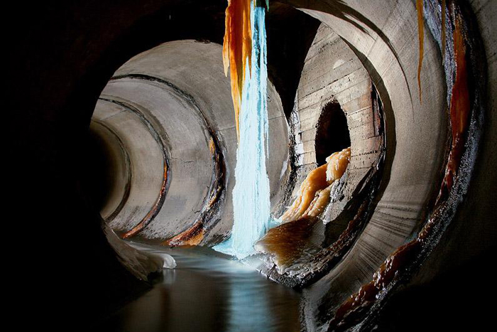 Ледяные  водопады.