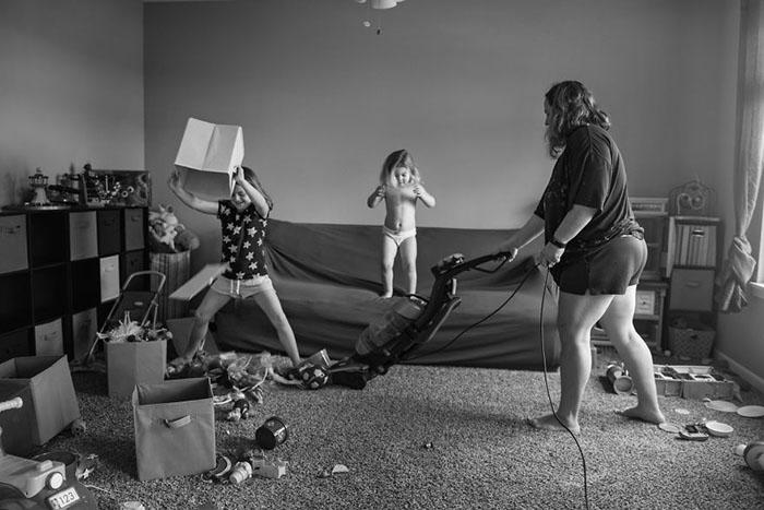В доме с детьми можно убирать бесконечно.