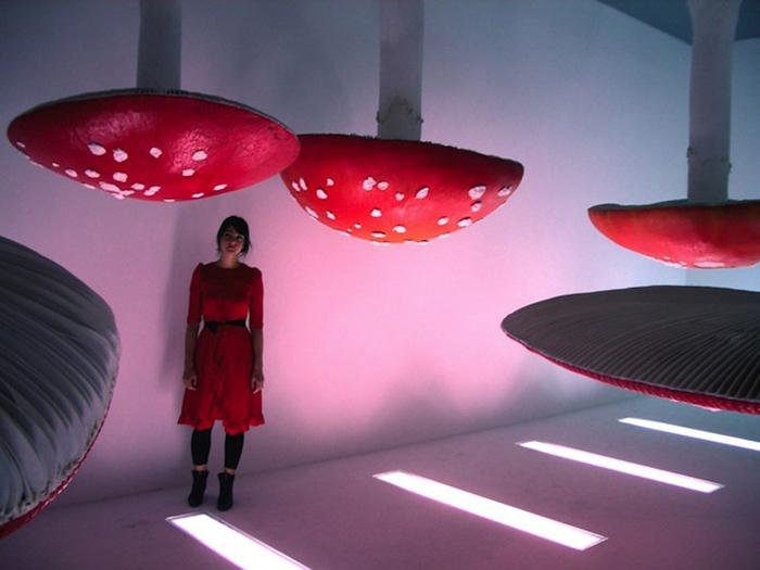 Грибные инсталляции бельгийского художника.