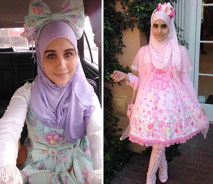 Мусульманские девушки примеряют на себя образ японских лолит.
