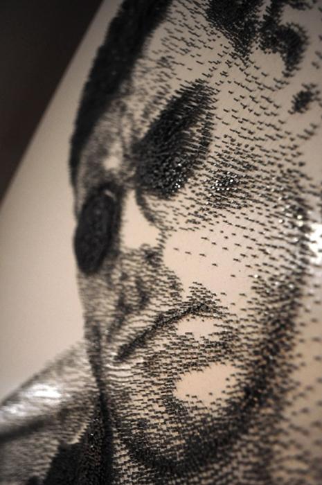 Портрет Жан-Клода ван Дамма. Лицо вблизи. Автор: Marcus Levine.