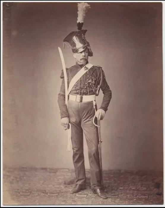 Месье Верлин, копейщик второго полка 1815г. Фото: Brown University Library.