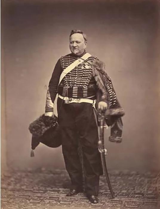 Интендант сержант Делиньон в униформе стрелка конной гвардии, 1809-1815 гг. Фото: Brown University Library.