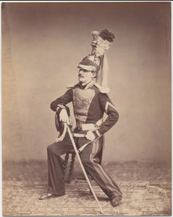 Месье Мойбан, 8й полк 1815г.  Фото: Brown University Library.