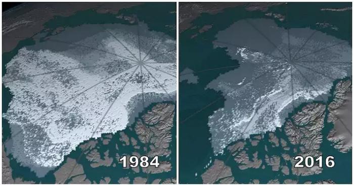 Фото Арктики от NASA.