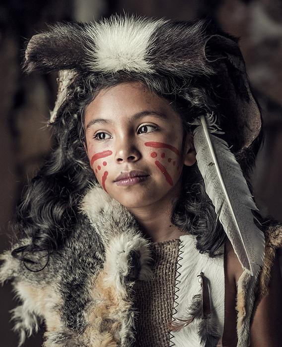 Девушка из племени Чичимека в Мексике.
