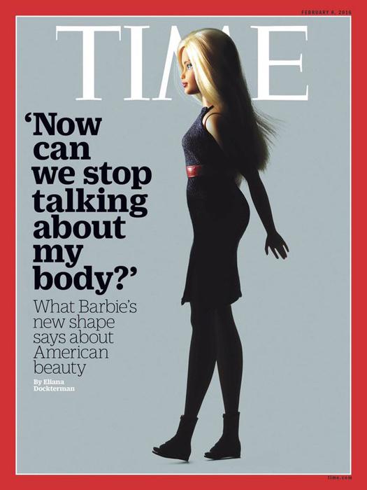 Новая фигуристая Барби оказалась на обложке нового Time.
