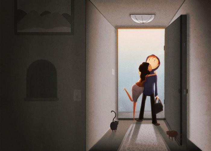 Картинки о возвращении домой мужа