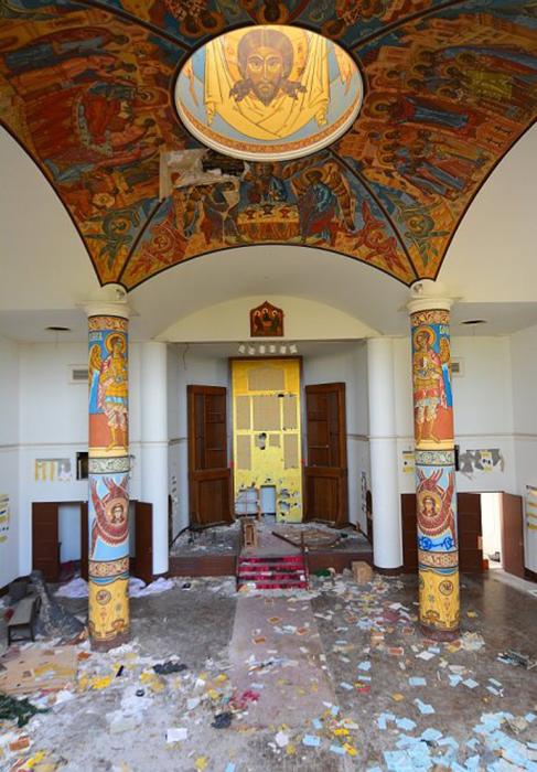 Внутри церкви. Фото: Abandoned Kansai.