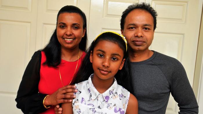 Ниши из семьи иммигрантов из Шри-Ланки.