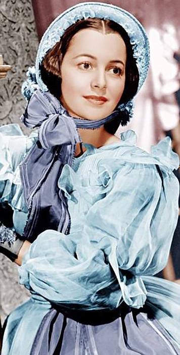 Оливия в начале своей кинокарьеры.