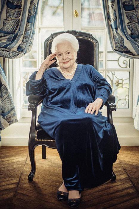 Оливия в возрасте 101 года.