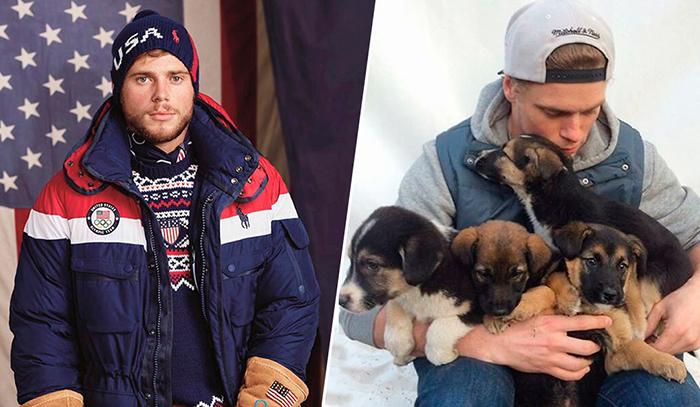 Олимпийский спортсмен спасает собак в Южной Корее.