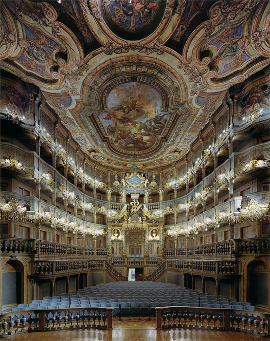 Оперный дом Margravial, Байройт, Германия.