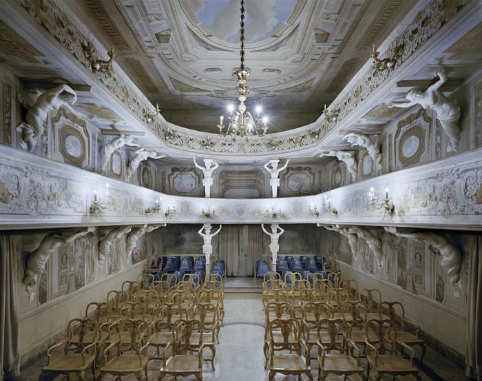 Teatro di Villa Aldrovandi Mazzacorati, Болонья, Италия.
