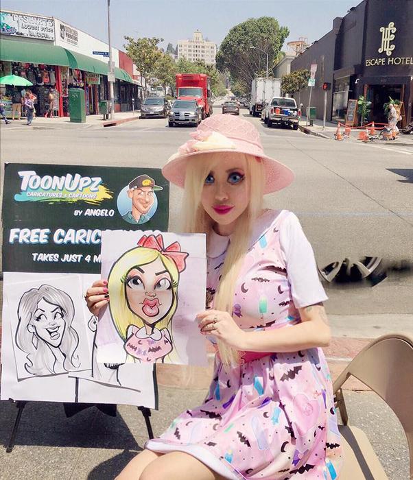 Офелии понравилось изображение ее уличным художником.  Instagram opheliavanity.
