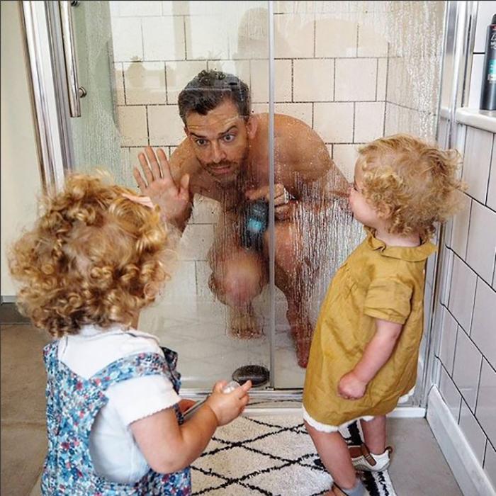 Многодетный отец смешная картинка, любви открытках