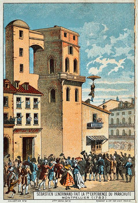 Прыжок Луи-Себастьяна Ленормана 26 декабря 1783 г.