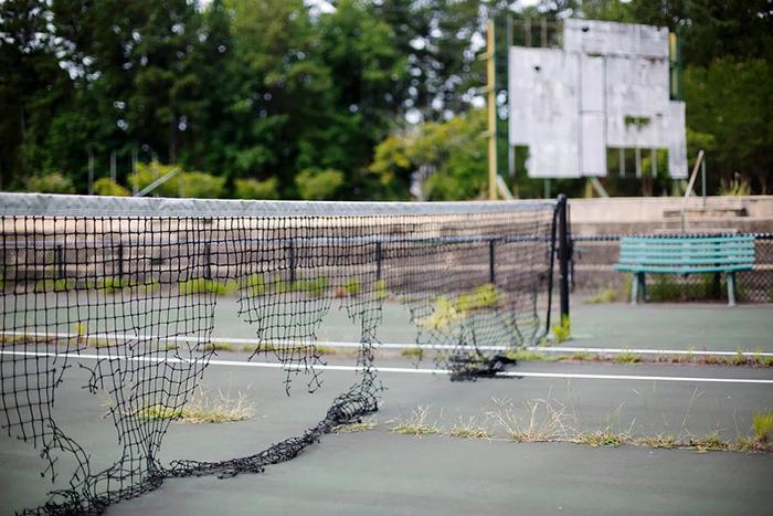 Теннисный корт Stone Mountain.
