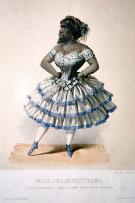 Литография В. Катцлера, изображающая Хулию Пастрана. 1860 г.