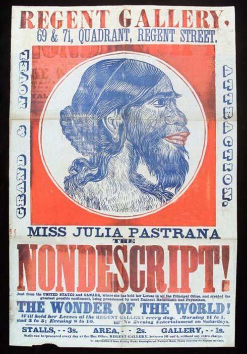 *Неописуемая* Хулия Пастрана. Плакат выступления.