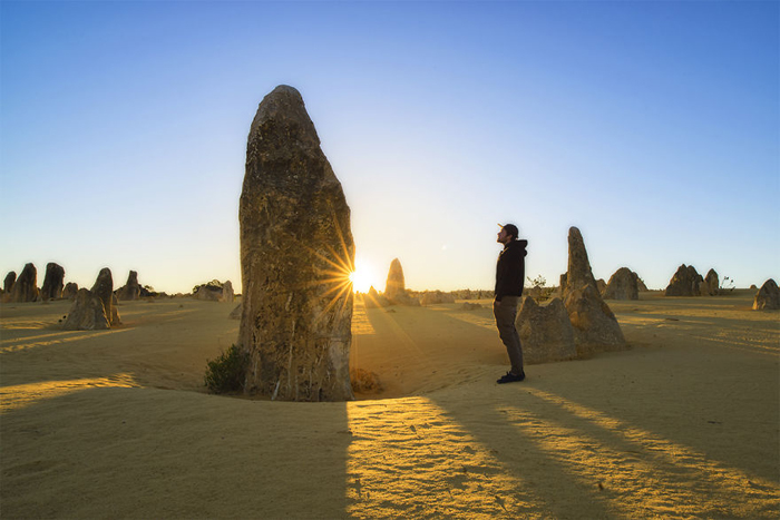 Пустыня Пиннаклс, западная Австралия. Автопортрет. Автор фото: William Patino.