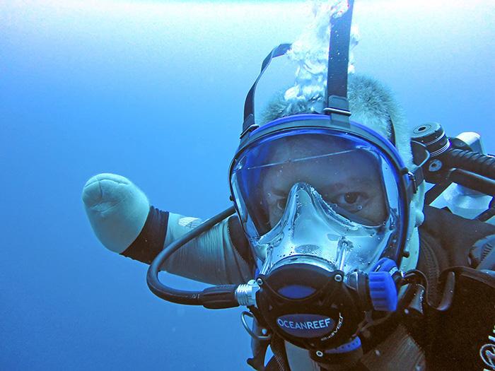 Погружение на 40-метровую глубину.