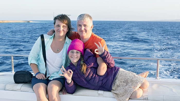 Дмитрий Павленко со своей семьей.