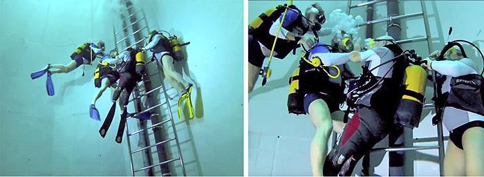 Погружение на глубину 33 метров Филиппа Круазона.