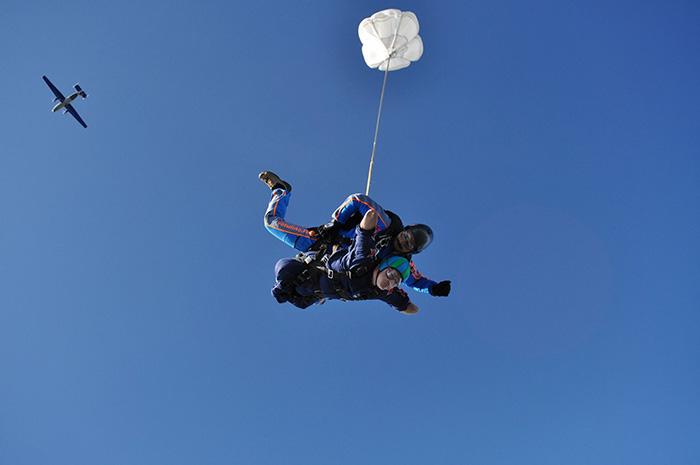Прыжок с высоты 4000м.