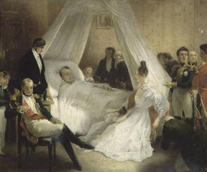 Смерть Наполеона. Чарль де Стубен (1828).