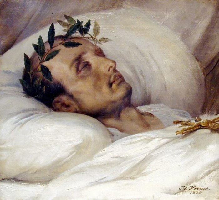 Наполеон на смертном одре. Верне (1826).