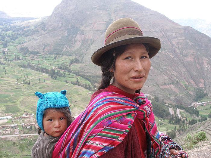 Женщина из числа индейцев Кечуа.