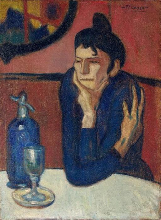 Пабло Пикассо «Женщина, пьющая абсент» (1901).