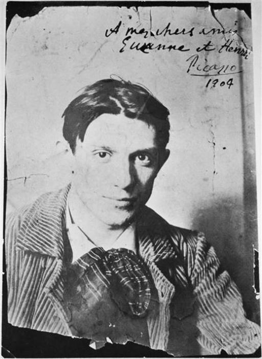 Молодой Пабло Пикассо.