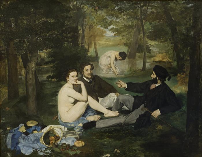 Эдуард Мане  *Le Dejeuner sur l'Herbe* (Завтрак на траве), 1862г.