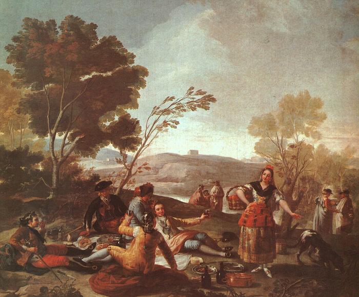 Франциско де Гойя *Picnic En La Ribera Del Manzanares* (Пикник на берегах Мансанарес), 1776г.