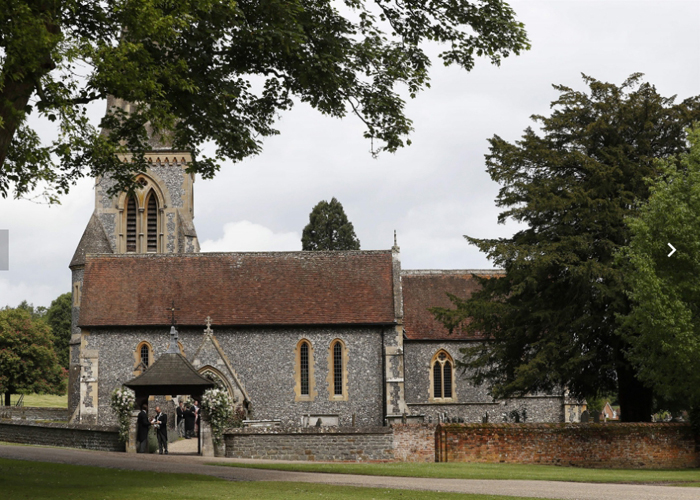 Церковь святого Марка ХІІ века, в которой происходила свадебная церемония Пиппы Миддлтон и Джеймса Мэттьюза.