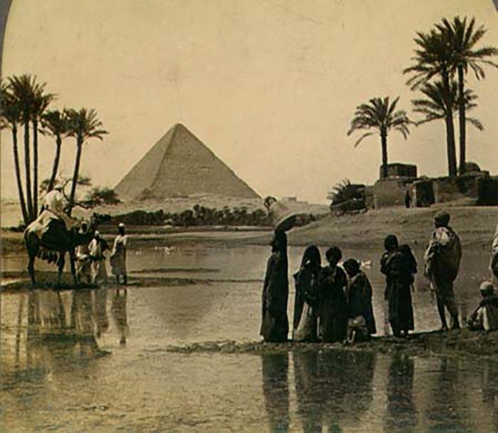 Открытка с пирамидами, XIX век.