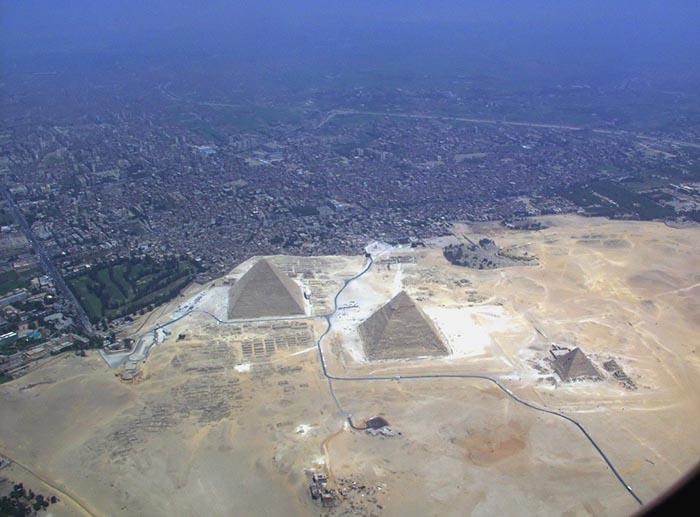 Вид на пирамиды сверху.