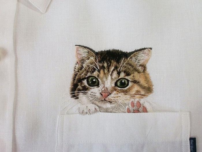 Милый котенок. Автор: Hiroko Kubota.