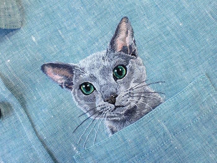 Котик из кармана. Автор: Hiroko Kubota.
