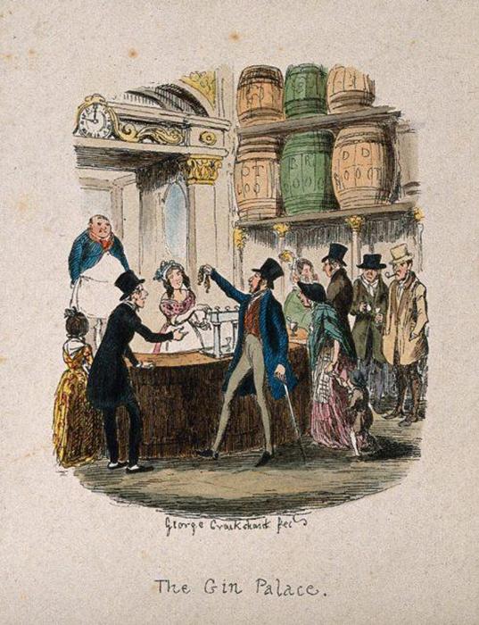 Бар с джином. 1842 год.