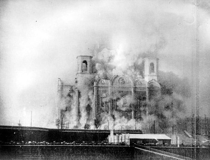 Разрушение храма, 1931 год.