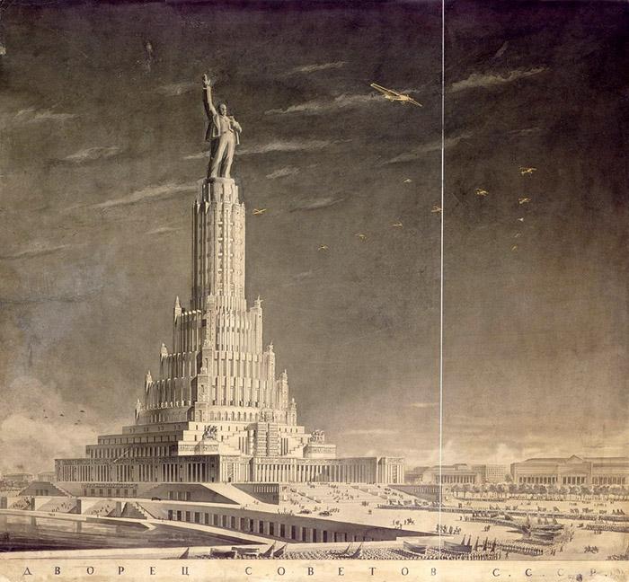 Проект Дворца Советов.