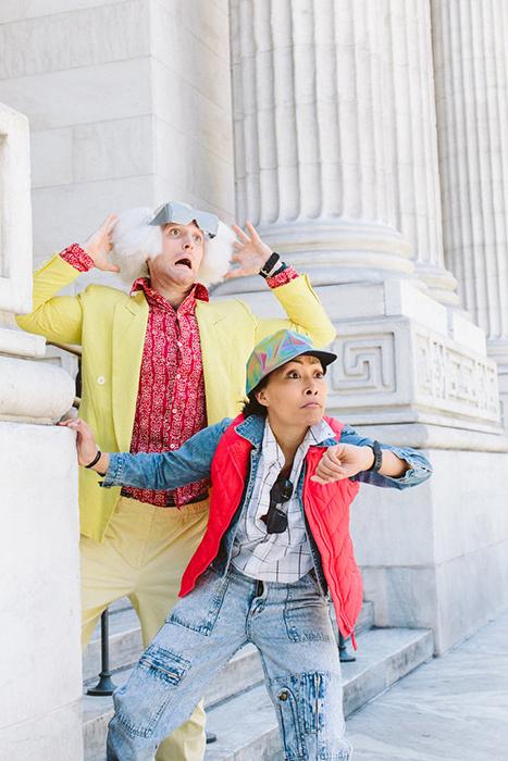 Марти МакФлай и Док Браун из *Назад в будущее.*