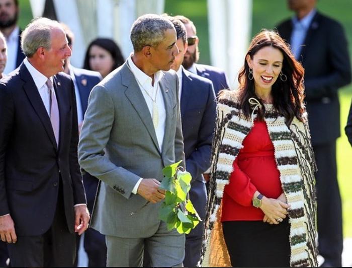 На встрече с бывшим Президентом США Бараком Обамой.