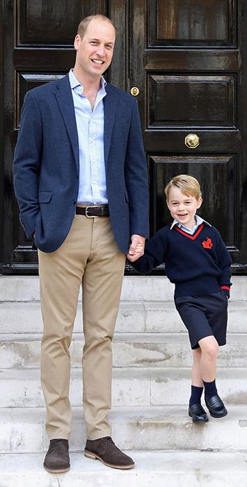 Принц Джордж с папой в сентябре 2017.